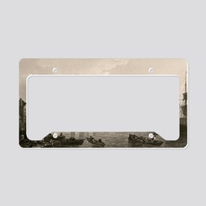 Old London Bridge, 1745 License Plate Holder