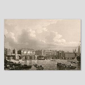 Old London Bridge, 1745 Postcards (Package of 8)
