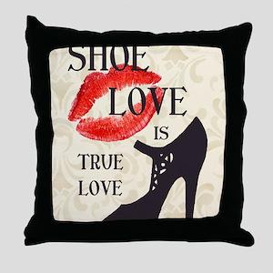 Shoe Love 2 Throw Pillow