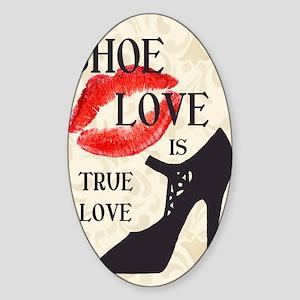 Shoe Love 2 Sticker (Oval)