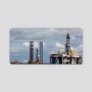 Oil drilling rigs, North Se Aluminum License Plate