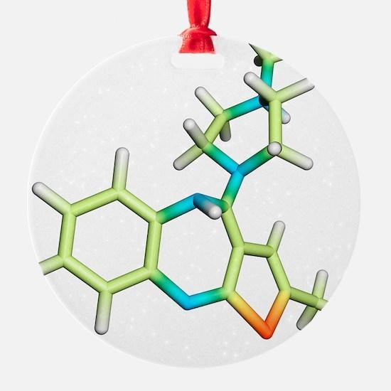 Olanzapine antipsychotic drug molec Ornament
