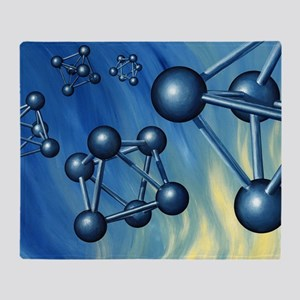 Octahedral molecular models, artwork Throw Blanket