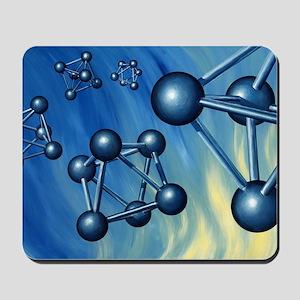 Octahedral molecular models, artwork Mousepad