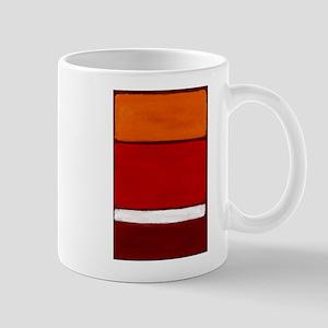ROTHKO ORANGE RED WHITE Mugs