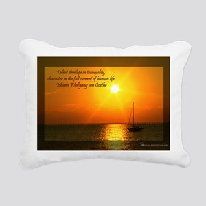 Lifes Current Rectangular Canvas Pillow