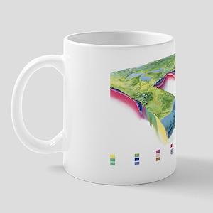 North American geology and oil slick Mug