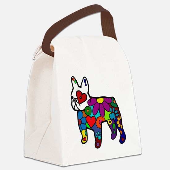 Frenchie Power Canvas Lunch Bag