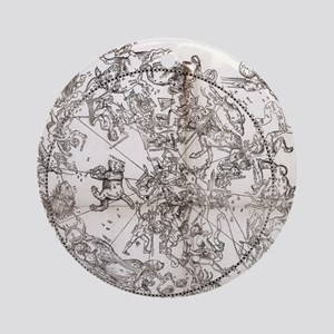 Northern hemisphere star chart, 153 Round Ornament