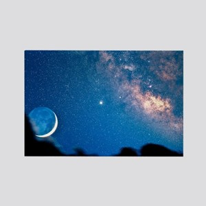 Night sky Rectangle Magnet