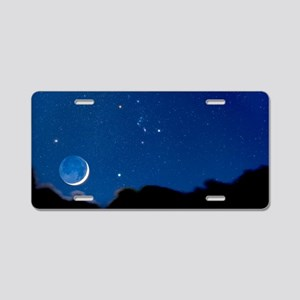 Night sky Aluminum License Plate