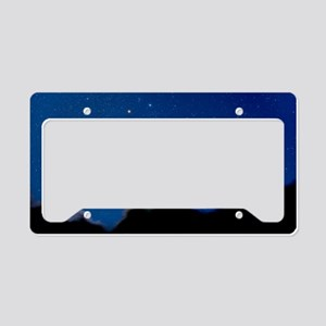 Night sky License Plate Holder