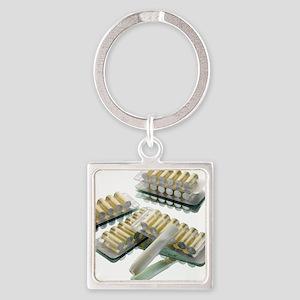 Nicotine inhalator Square Keychain