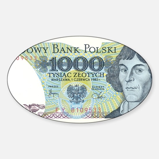 Nicolaus Copernicus on a Polish ban Sticker (Oval)