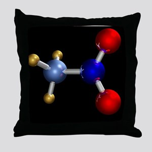 Nitromethane molecule Throw Pillow