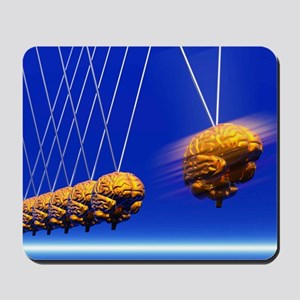 Newton's cradle with brains, artwork Mousepad