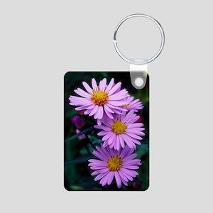 New York aster flowers (As Aluminum Photo Keychain