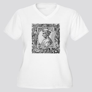 Niccolo Machiavel Women's Plus Size V-Neck T-Shirt