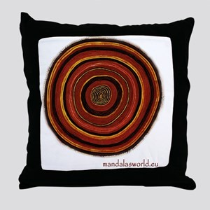 Aboriginal Mandala n3 Throw Pillow
