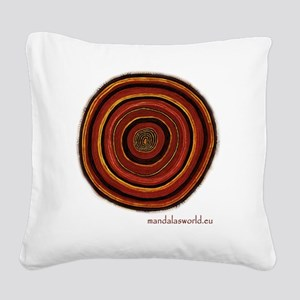 Aboriginal Mandala n3 Square Canvas Pillow