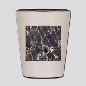 Neural network, computer artwork Shot Glass