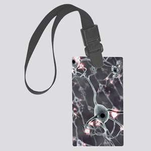 Neural network, computer artwork Large Luggage Tag