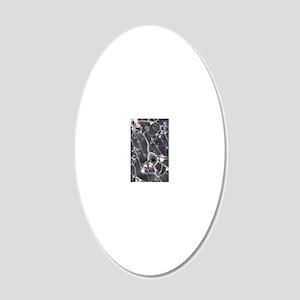 Neural network, computer art 20x12 Oval Wall Decal