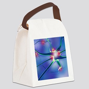 Nerve cells and synapses Canvas Lunch Bag