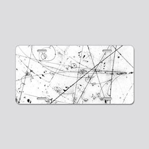 Neutrino particle interacti Aluminum License Plate