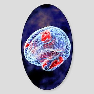 Neural synchrony, artwork Sticker (Oval)