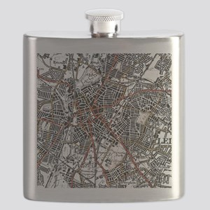 Leicester Road Map Flask