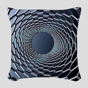 Nanotube technology, computer  Woven Throw Pillow