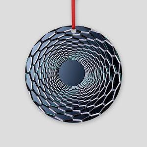 Nanotube technology, computer artwo Round Ornament