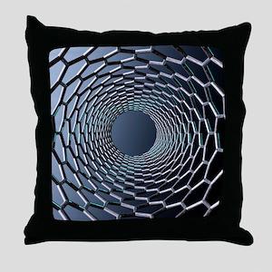 Nanotube technology, computer artwork Throw Pillow