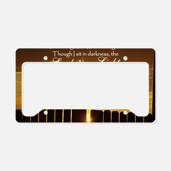 Lord will be my Light License Plate Holder
