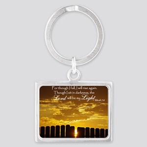 Lord will be my Light Landscape Keychain