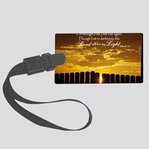 Lord will be my Light Large Luggage Tag