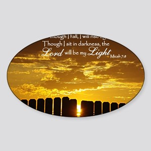Lord will be my Light Sticker (Oval)