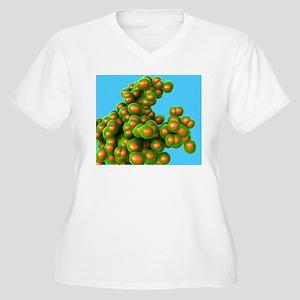 MRSA bacteria Women's Plus Size V-Neck T-Shirt