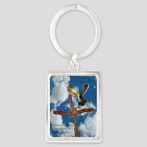 Spirit of God like a Dove Portrait Keychain