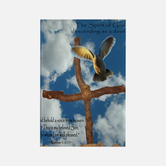 Spirit of God like a Dove Rectangle Magnet