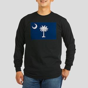 South Carolina Flag Long Sleeve Dark T-Shirt