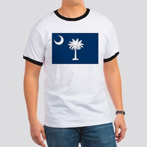 South Carolina Flag Ringer T