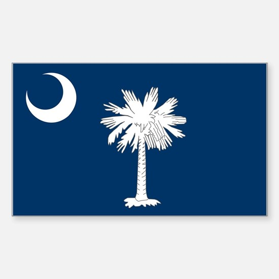 South Carolina Flag Sticker (Rectangle)
