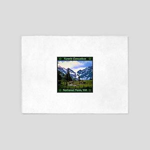 North Cascades National Park 5'x7'Area Rug