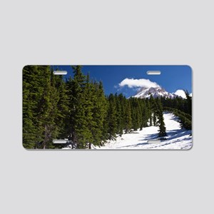 Mountain forest Aluminum License Plate