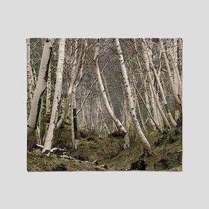 Mount Etna birches (Betula aetnensis Throw Blanket