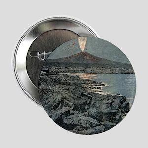 "Mount Etna erupting, artwork 2.25"" Button"