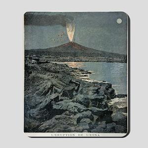 Mount Etna erupting, artwork Mousepad