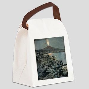 Mount Etna erupting, artwork Canvas Lunch Bag